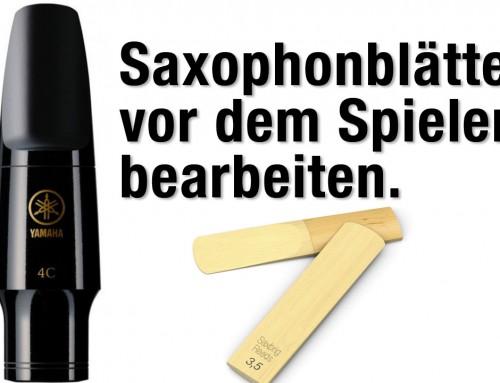 Saxophonblätter bearbeiten – Saxophon lernen online