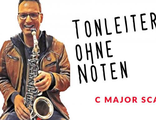 C Dur Tonleiter mit dem Alt-Saxophon spielen – Tonleitern ohne Noten lernen – Saxophon lernen