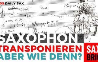 Transponieren auf dem Saxophon