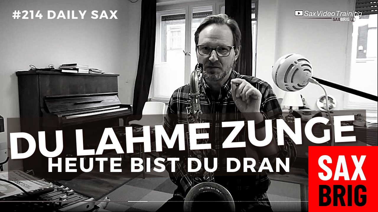 Saxophon Zungentechnik