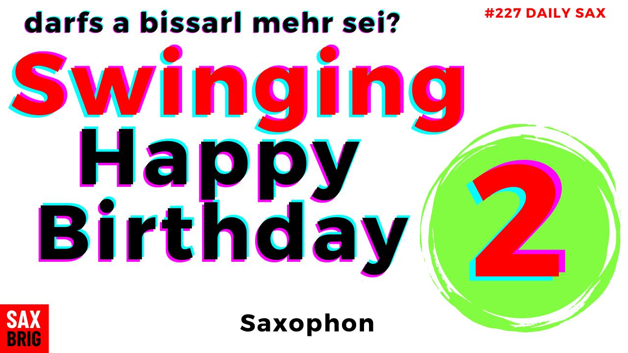 Happy Birthday Alto Sax