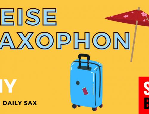 Ich baue mir ein Fake Reise Saxophon zum Üben im Urlaub – Saxofon lernen – Daily Sax 021